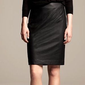 Banana Republic Faux Leather High Rise Perforated